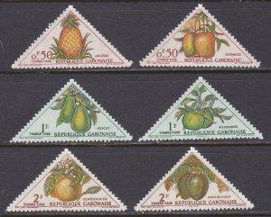 Gabon Sc #J34-39 Mint Hinged