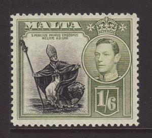 1938 Malta 1/6 Mounted Mint SG227