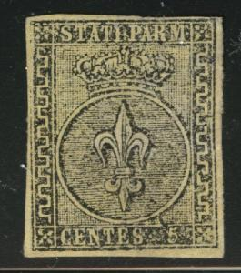 Parma Scott 9 Mint No Gum MNG 1852 margin tear at right