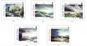 Isle of Man Sc 949-53 2002 Onley Watercolours stamp set used