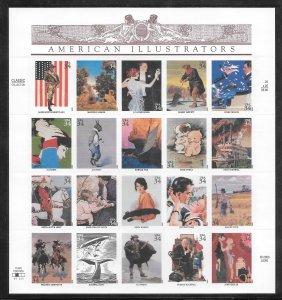 #3502 MNH American Illustrators Sheet Plate #V11231 Position #2