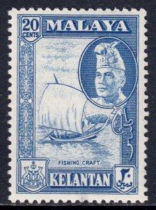 Malaya (Kelantan) - Scott #78 - MH - SCV $2.50