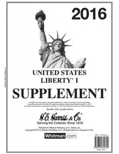 H E Harris Liberty 1 Supplement for Stamp issued in 2016 (Liberty I)