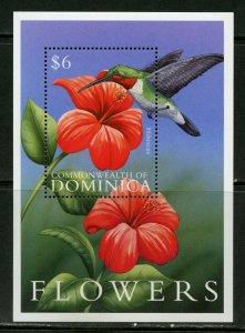 DOMINICA  FLOWERS SOUVENIR SHEET II  MINT NH