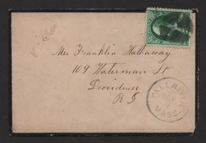 $US Mourning cover Fall River Mass.