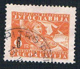 Yugoslavia 203 Used Partisan Girl (BP15913)