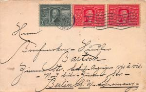 U. S., Scott #323-324 (2 stamps), Used on 1905 Cover from N.Y.C. to Germany
