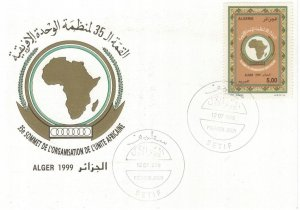 Algeria 1999 FDC Stamps Scott 1157 Map Organisation for African Unity Africa OAU