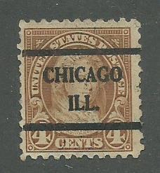 1925 USA Chicago, Ill.  Precancel on Scott Catalog Number 585