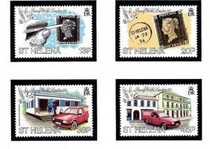 St Helena 528-31 MNH 1990 Stamp World London 90