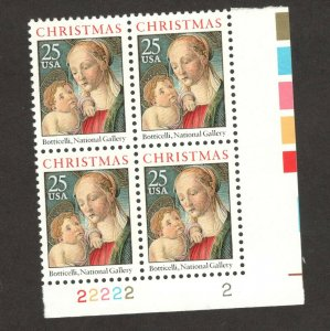 2399 Madonna And Child Plate Block Mint/nh FREE SHIPPING