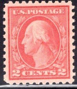 US Stamp #425 2c Washington MINT Hinged SCV $2.10