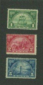 United States Postage Stamps #614-616 MH OG