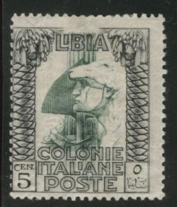 LIBYA Scott 22 MH* 1921 crown watermark, yellow gum.