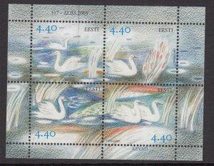 Estonia 508 Birds Souvenir Sheet MNH VF