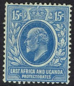 EAST AFRICA AND UGANDA 1907 KEVII 15C
