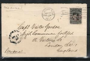 Newfoundland #C4 Very Fine Used On Cover Dated May 20 1927 **With Certificate**