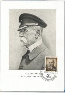 59153  -  CZECHOSLOVAKIA - POSTAL HISTORY: MAXIMUM CARD -  Thomas Masaryk