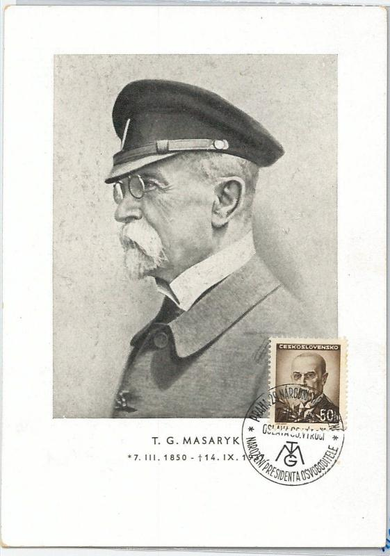 59153  -  CZECHOSLOVAKIA - POSTAL HISTORY: MAXIMUM CARD -  Thomas Masaryk