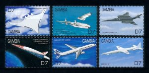 [101621] Gambia 2000 Aviation aircrafts  MNH