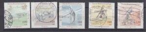 J28641, 1997 germany set used #b820-4 mills windmills