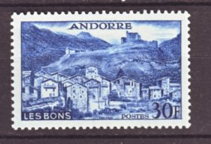 J22139 Jlstamps 1955-8 french andorra mh #136 village les bons