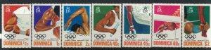 Dominica #478-84a* NH  CV $3.90 1976 Olympics complete set & Souvenir sheet