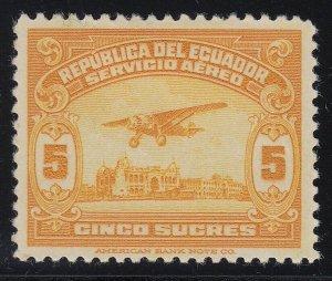 Ecuador 1929 5s Orange Yellow M Mint. Scott C14