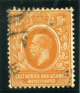 BRITISH KUT;  1912 early GV issue Crown CA, fine used 10c. value