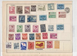 yugoslavia stamps on album page  ref 10479