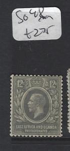 EAST AFRICA AND, UGANDA  (P0909B) KGV  12C  SG 48    MOG