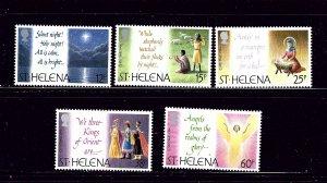 St Helena 631-35 MNH 1994 Christmas