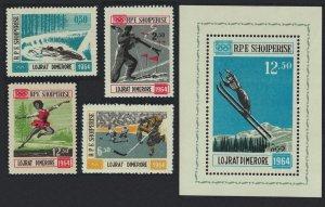 Albania Winter Olympic Games Innsbruck 4v+MS 1963 MNH SG#794-MS797a
