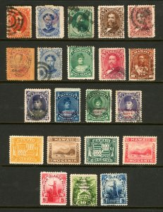 Hawaii #31 / #82 1864-1899 Nice Assortment of Hawaii Issues Unused and Used
