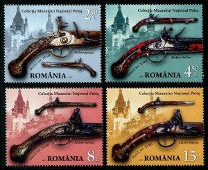 HERRICKSTAMP NEW ISSUES ROMANIA Sc.# 5917-20 Weapons 2017 - Pistols