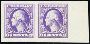 535, Mint Superb NH JUMBO 3¢ Imperforate Pair - Stuart Katz
