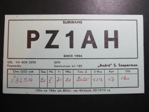 9807 Amateur Radio QSL Card SURINAME