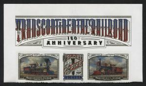 US Transcontinental Railroad top row strip of 3