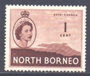North Borneo Scott 261 - SG372, 1954 Elizabeth II 1c MH*