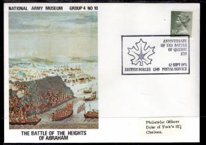 Great Britain The Battle of the Heights of Abraham Army Museum 1971 Cover