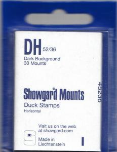 SHOWGARD BLACK MOUNTS DH 52/36 (30) RETAIL PRICE $3.95