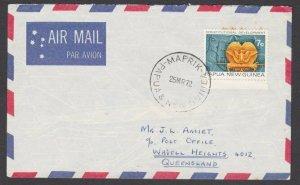 PAPUA NEW GUINEA 1972 cover ex MAPRIK.......................................L809