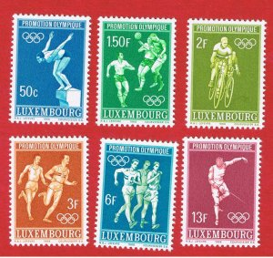 Luxembourg #460-465  MNH OG  Olympics Free S/H