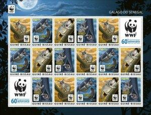 Guinea-Bissau - 2021 WWF 60 Years, Animal - 16 Stamp Sheet - GB210231i2