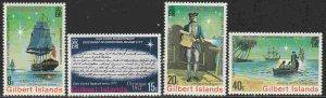 Gilbert Islands #300-3 F-VF Mint NH ** Christmas, Capt. Cook, ship