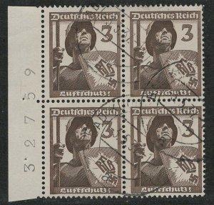 Germany Reich Scott # 481, b/4, plate #
