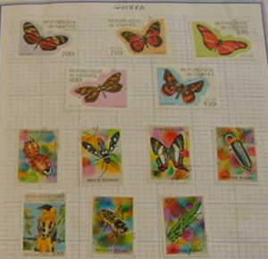 Guinea Butterfly and bug Collection--MH to Used condition