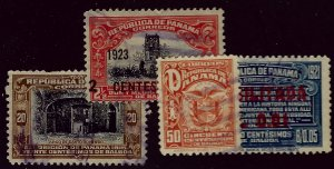 Panama SC#212, 236, 242 & 276 Used FVF...Grab a Bargain!