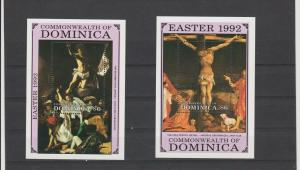 Nevis 1992 art paintings Easter Caravaggio 2s/s  MNH