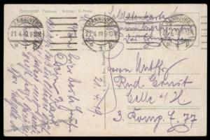 German 1919 Freikorps Hannover Anti-Spartakist-Communist Feldpost Cover 87286
